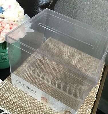 DAVIDTUTERA Clear Acrylic Wishing Well Wedding Reception Card Holder Box .