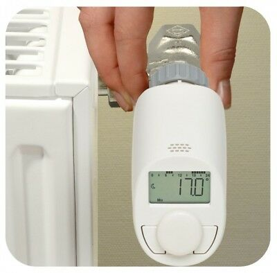 eQ-3 programmable smart home Heating Thermostat Bluetooth TRV head