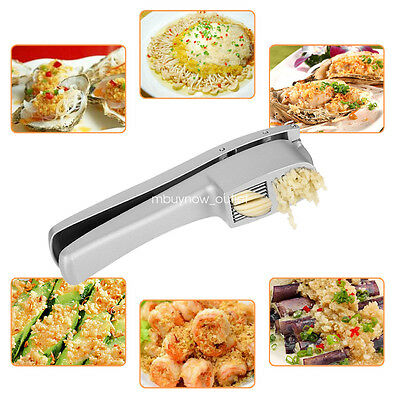 Uten No Peel Garlic Press & Slice - Crusher, Slicer, Squeezer Tool