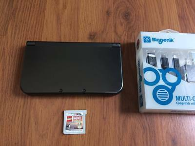 Nintendo New 3DS XL Launch Edition Black Handheld System -Works GREAT!-