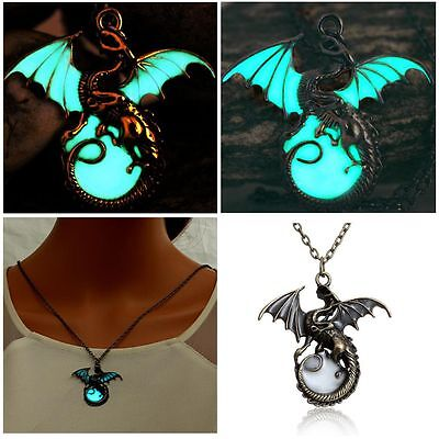 Ancient Necklaces Game Of Throne Dragon Dragon Pendants Glow In The Dark