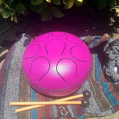 NEW  19cm Chakra Drum ,  F Note , Purple , Free Shipping