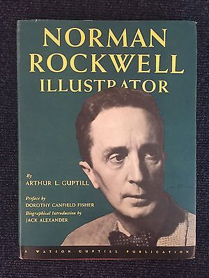 Norman Rockwell Illustrator by Arthur Guptill SIGNED by Artist Book First 1946