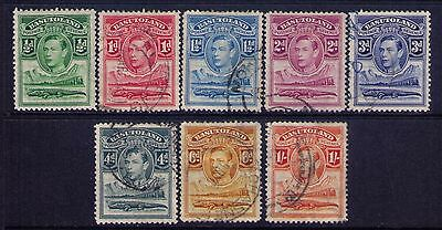 BASUTOLAND Stamps,1937 KGVI SC # 18-25 MH/USED CAT.$13
