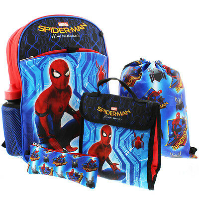 Spider-Man Homecoming 5 piece Backpack School Set ZF29364SC