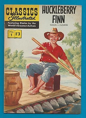 Classics Illustrated Comic # 1.   Huckleberry Finn    #783