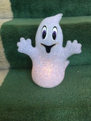 "Light-Up Ghost. White. 10"" High."