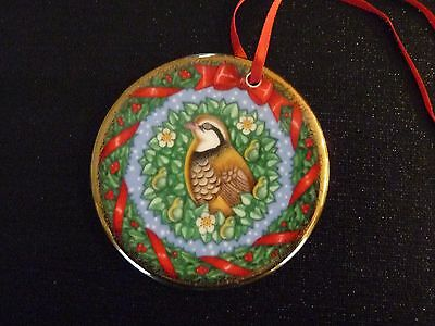 Royal Doulton The Joy of Christmas Partridge in a Pear Tree Ornament