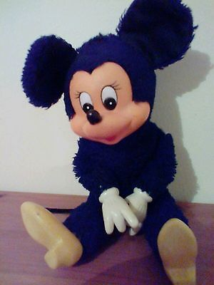 .Vintage Walt Disney Minnie Mouse-Pedigree Handcrafted by California Stuffed Toy