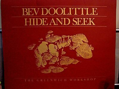 "Bev Doolittle ""Hide and Seek"" Portfolio Cover, 33"" x 27"" (Cover Only, No Prints)"