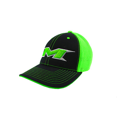 Miken Hat by Pacific 404M BLK/NEON GREEN/BLK/silver neon green LG/XL 7 3/8-8