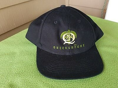 NEW QUEENSRYCHE Embroidered Tour Hat Ball Cap Black 2k Collectable Fan Attire
