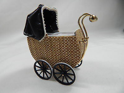 Heidi Ott Dollhouse Miniature Light 1:12 Scale Doll's Pram Light Brown #XZ111