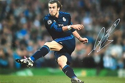 Real Madrid Gareth Bale Original Hand Signed Photo 30x20cm With COA