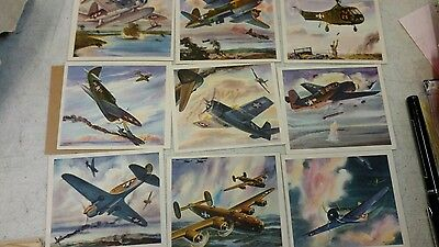 Coca cola cards America's fight Planes in action 20 card set