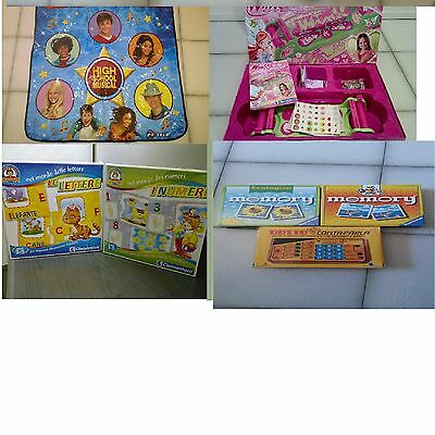 Lotto stock 7 giochi Clementoni Ravensburger Memory Winx High school musical