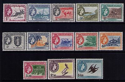 Virgin Islands Stamps QEII SC# 115-27 Cpl. MH/MLH Set Cat.$98