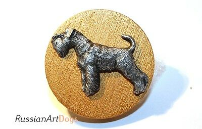 Schnauzer dog - Show Ring Clip, Ring Number Holder