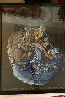 Tool concert poster San Antonio (framed) FREE SHIPPING.