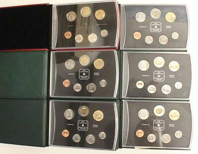 6x Canada Specimen Coin Sets 2000 to 2005 Royal Canadian Mint Special Loonies