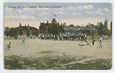 Baseball Field, Game St Mary's College SAINT MARY KY Vintage Postcard