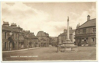Vintage Postcard. Market Square, Melrose. Unused. Ref:75552