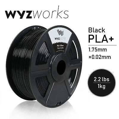 WYZwork 3D Printer Premium PLA Filament 1.75mm 1kg/2.2lb - Black