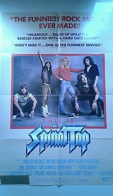 Spinal Tap original movie poster 1984 rock comedy