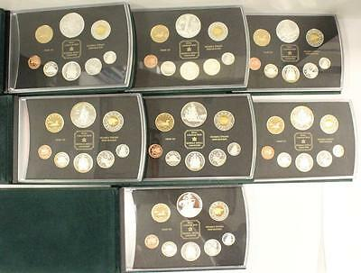 7x Royal Canadian Mint Canada Silver Double Dollar Proof Coin Sets 1998 to 2004