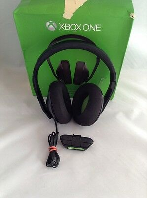 Microsoft Xbox One Stereo Black Gaming Headset Mic w Adapter - USED