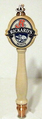 Rickard's White 3-Sided Beer Tap Handle (New)
