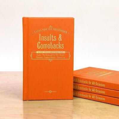 Insults & Comebacks For All Occasions Pocket Book | novelty gift knock knock