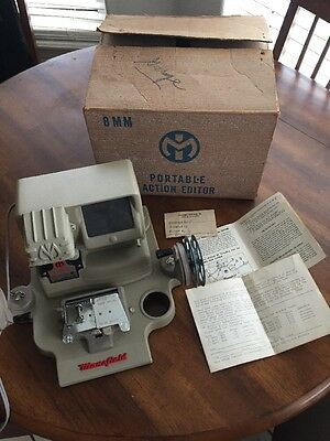 Vintage Mansfield Deluxe Model 950 8MM Film Viewer Editor Splicer & Box