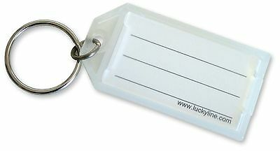 Lucky Line Key Tag With Flap; Clear 100 per pack (6050010)