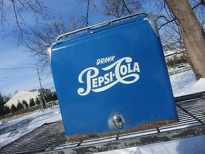 Vintage PEPSI COLA COOLER ICE CHEST w/ Tray Coca Cola 7up SODA ADVERTISING