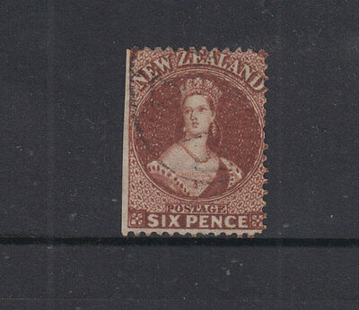 NZ 1864 6d Pale Red-brown CHALON -p12½- WMK NZ--SG108 Cat £60 G-FU