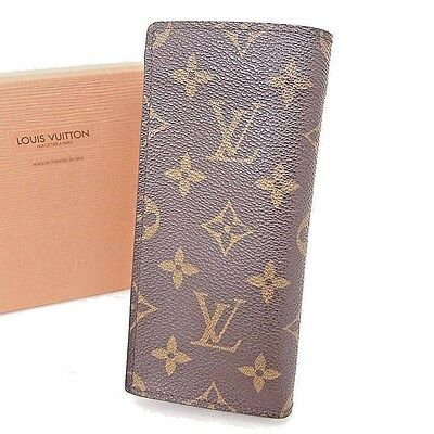 Authentic LOUIS VUITTON Monogram Etui a Lunettes Simple Eyeglasses Case France