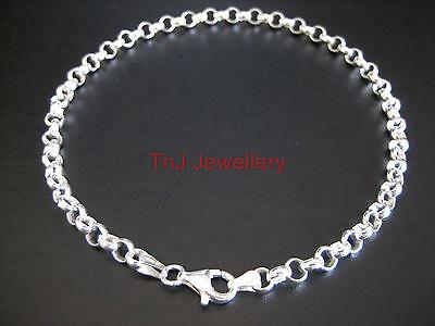 NEW Genuine Solid 925 Sterling Silver Round Belcher Ladies Anklet Beautiful