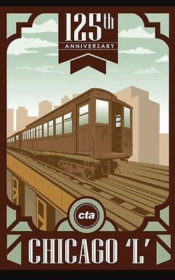 CTA 125th Anniversary Poster Collector's special edition chicago transit