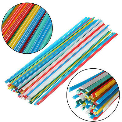 50PCS Mix Color Blue/Yellow/Red & PVC Green Plastic Welding Rods Welder Sticks