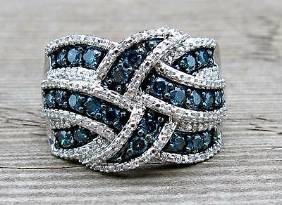 Gorgeous Women 925 Silver Blue Sapphire Ring Engagement Bridal Gifts Jewelry New