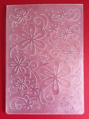 NEW• SWIRLY FLOWERS EMBOSSING FOLDER For Cuttlebug Or Sizzix