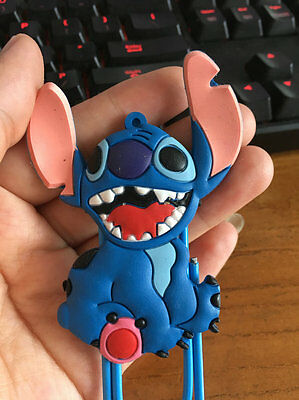 disney big teeth stitch silica gel bookmark anime cute clip cute new