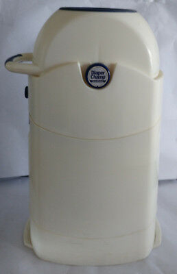 USED Diaper Champ Baby Trend Pail Disposal Garbage Can White Baby Infant