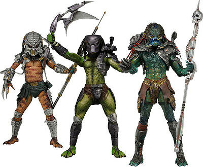 "PREDATOR - 7"" Scale Series 13 Action Figure Set (3) by NECA #NEW"