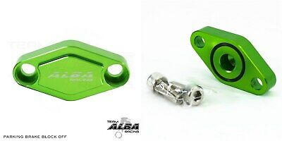 Yamaha YFZ 450 450R 450X  Parking Brake Blockoff Plate  Block off     Green