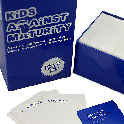 Funny Family-Friendly Card Game - Kids Against Maturity: Founder's Edition