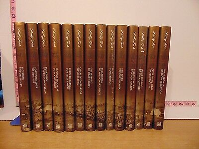 The Civil War by Shelby Foote (2000, Hardcover) 14 Volume Complete Set 40th Ann