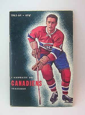 Montreal Canadians Yearbook - L'Annuaire des Canadiens 1963-64