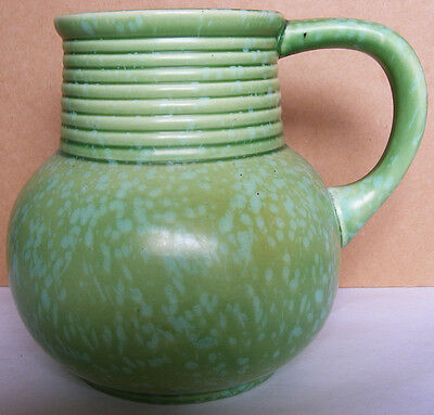 ROYAL CAULDON - Splendid Mottled Green Pitcher - No 1802 - Art Deco - Very Good
